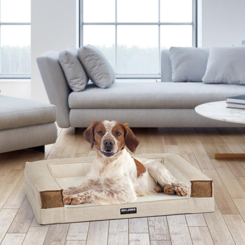 tailored dog couch bed 28 x36 tan