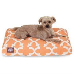Trellis Rectangular Pet Bed, Medium , Teal