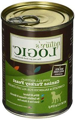 Natures Logic Turkey Canned Dog Food Case of 12, 12/13.2 oz/
