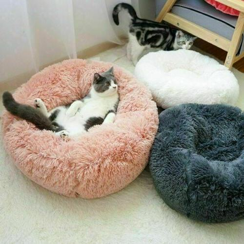 US Pet Calming Beds Soft Warmer Small Dogs