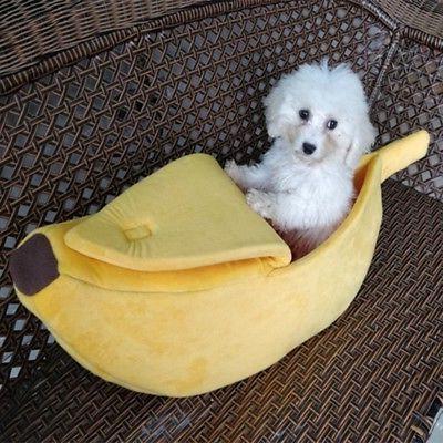 Warm Pet Bed Banana Home US