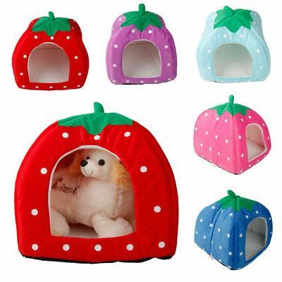 warm soft strawberry pet dog cat bed
