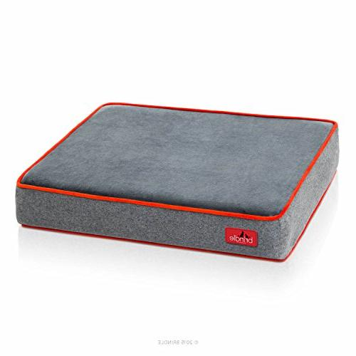 Brindle Foam Bed Charcoal Velour