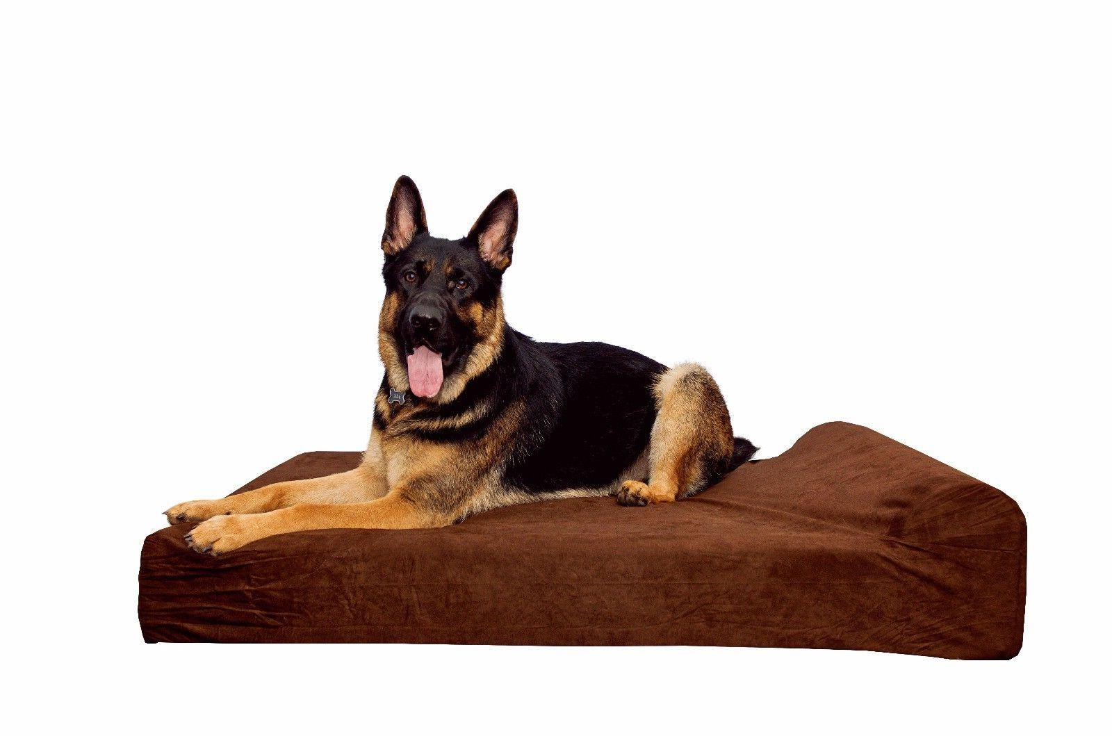 """SIMIEN Extra Large Waterproof Liner Dog Bed with 7"""" Pillow T"""