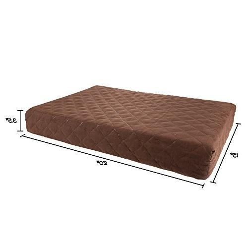 Waterproof Memory Foam Bed- Dog Slip Bottom and Removeable Washable 20 15 by PETMAKER
