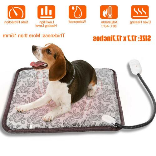 waterproof pet heated pad bed puppy dog