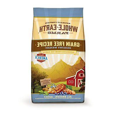 Whole Earth Farms Grain Free Healthy Weight Recipe Dry Dog F