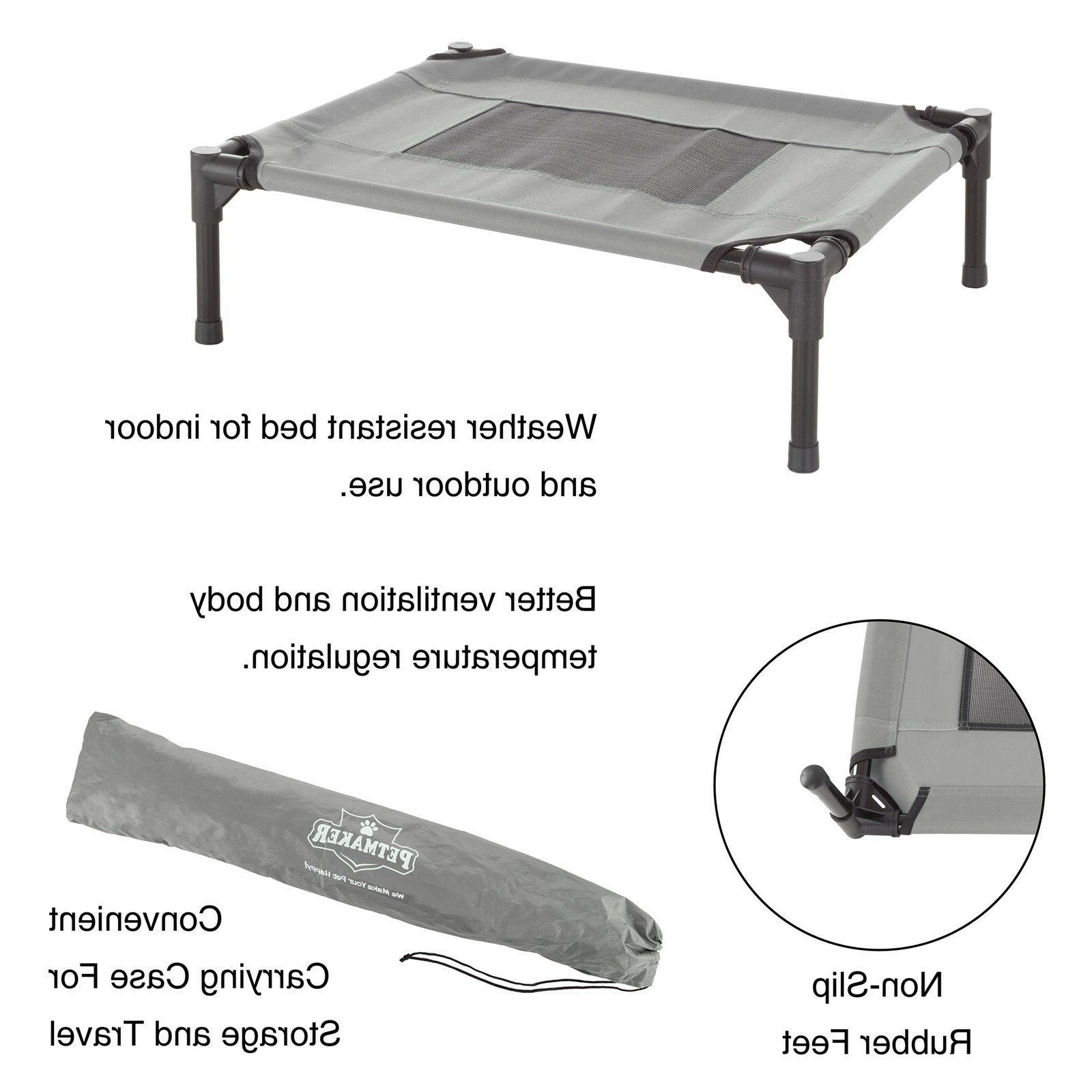 XSmall SM Cat Bed Indoor Raised Elevated Cot 24 18