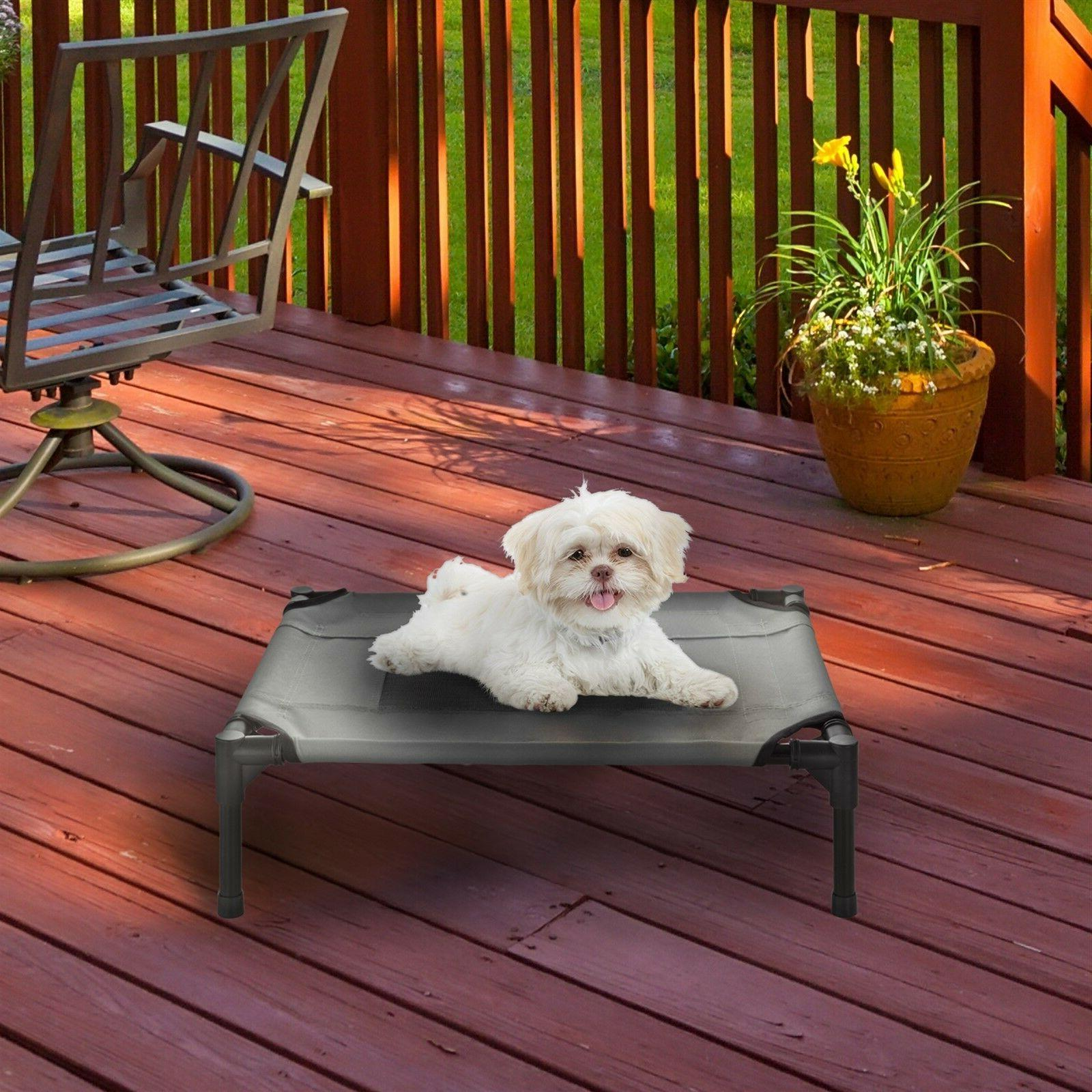 XSmall SM Dog Bed Indoor Outdoor Raised Elevated 24 18