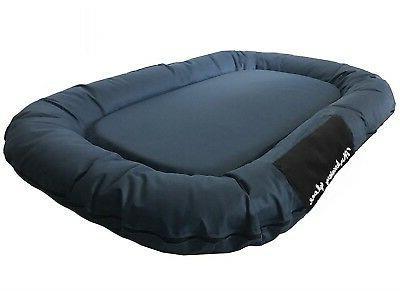 XXL Bolster Dog Bed Waterproof Gray