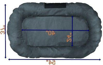 XXL Large Bolster Pet Bed Waterproof Gray