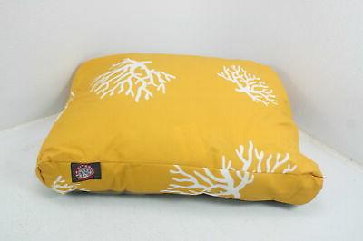 yellow coral small rectangle dog bed w