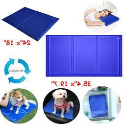 L / XL Pet Cooling Mat Pad Gel Cooler For Dog Crate Bed Comf