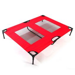 Large Dog Bed Camping Pet Elevated Outdoor Raised Cot Frame