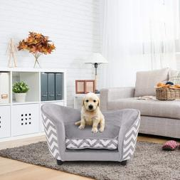Large Dog Bed Wooden Frame Pet Deluxe Sofa Orthopedic Fluffy
