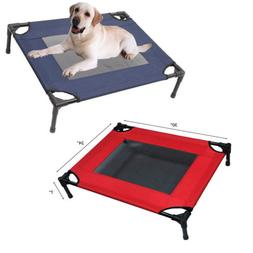 Large Dog Cat Bed Elevated Pet Cot Indoor Outdoor Camping St