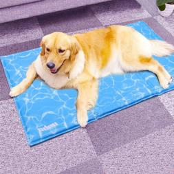 Large Dog Cool Gel Mat Pet Chilly Summer Cool Gel Bed Heat R
