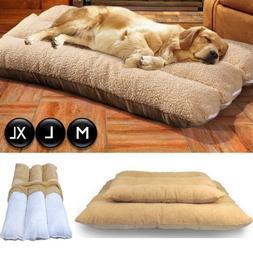 Large Dog Cushion Mat Fleece Soft Sleeping Bed Pillow Mattre