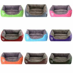 Large Pet Dog Cat Bed Fleece House Puppy Soft Washable Warm