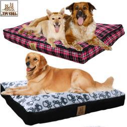 Large Soft PP Cotton Dog Bed Waterproof Indoor Outdoor Pet B