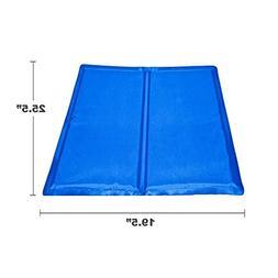 ALEKO LCB-L Pet Cooling Mat Cool Bed 25.5 x 19.5 Inch Blue P