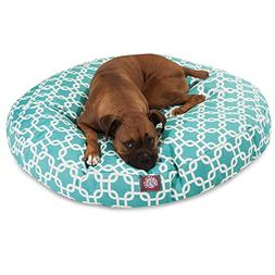 "Majestic Pet Links Round Pet Bed size: 42""L x 42""W x 5""H, Bl"