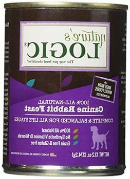 Nature's logic Rabbit Canned Dog Food 12-13.2oz