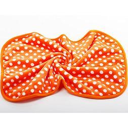 Lovely Design Polka Dot Pet Dog Cat Coral Fleece Couture Bla
