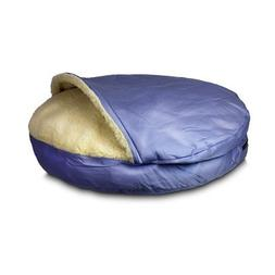 Luxury Cozy Cave Pet Bed Fabric: Dark Chocolate, Size: Large