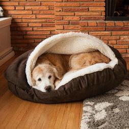 Snoozer Luxury Cozy Cave Pet Bed, Large, Hot Fudge
