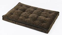 Bowsers Luxury Crate Mattress Dog Bed, Large, Chocolate Bone