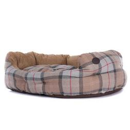 """Barbour Luxury Dog Bed 35"""" Taupe / Pink - 20% OFF!"""