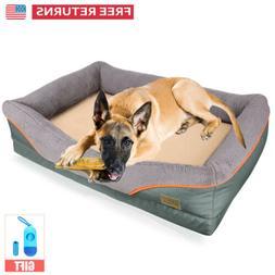 Luxury Extra Large Orthopedic Pet Dog Bed Soft Foam Faux Fle
