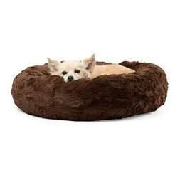 Best Friends by Sheri Luxury Faux Fur Donut Cuddler , Dark C