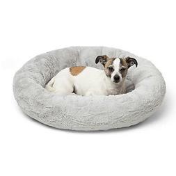 Best Friends by Sheri Luxury Faux Fur Donut Cuddler , Gray -