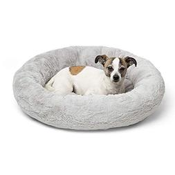 Best Friends by Sheri Luxury Faux Fur Donut Cuddler , Gray -