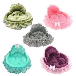 Luxury Lace Dog Bed Cat Litter Puppy Nest Washable Mat Soft