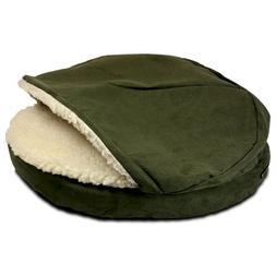 Snoozer Luxury Orthopedic Cozy Cave Pet Bed, X-Large, Hot Fu