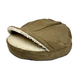 Snoozer Luxury Orthopedic Cozy Cave Pet Bed, Small, Camel