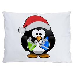 Outdoor Luxury Plush Dog Bed Little Round Penguin - Christma