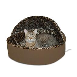 K&H Manufacturing Thermo Kitty Bed Deluxe Mocha