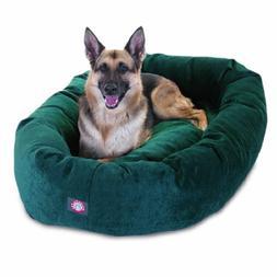 52 inch Marine Villa Collection Micro Velvet Bagel Dog Bed B