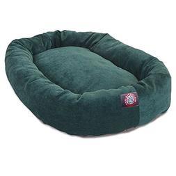 40 inch Marine Villa Collection Micro Velvet Bagel Dog Bed B