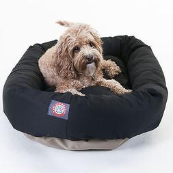 "Medium 32"" Bagel Donut Dog Cat Pet Bed Mat - Black"