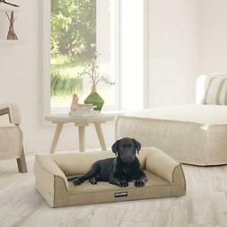 "Kirkland Signature Medium Dog Bed Sofa Brown 24"" x 36"" Memor"