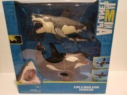 Animal Planet Mega Shark and Orca Encounter Kid Toy Gift