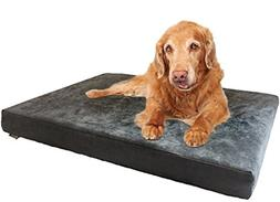 Dogbed4less Premium Orthopedic Memory Foam Dog Bed with Gray