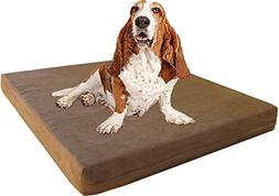 Dogbed4less Large Memory Foam Dog Bed with Brown Microsuede