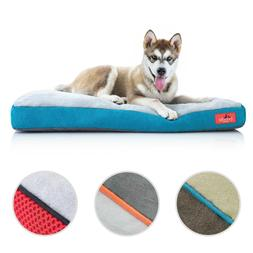 Brindle Memory Foam Dog Bed with Removable Washable Cover fo
