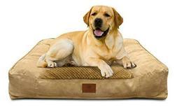 American Kennel Club Memory Foam Sofa Pet Bed X-Large Tan Be